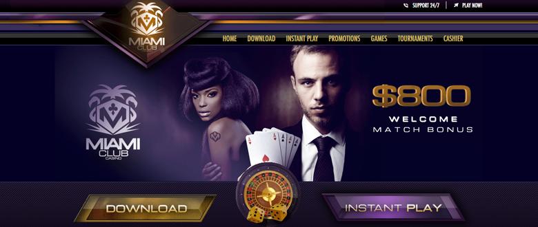 Miami Club Casino bonus